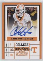 College Ticket - Cameron Sutton