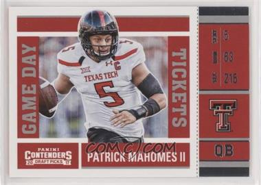 2017 Panini Contenders Draft Picks - Game Day Tickets #15 - Patrick Mahomes II