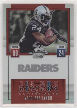 2017 Panini Contenders Optic - All-Pro Contenders - Red #AP-19 - Marshawn Lynch /49
