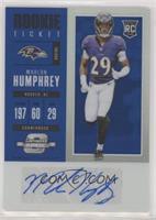 Rookie Ticket Autograph - Marlon Humphrey #/25