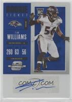 Rookie Ticket Autograph - Tim Williams /25
