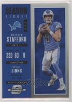 Season Ticket - Matthew Stafford #/99