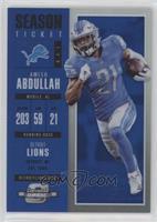 Season Ticket - Ameer Abdullah /99