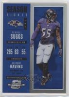 Season Ticket - Terrell Suggs #/99