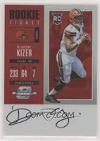 Rookie Ticket RPS Autograph - DeShone Kizer #/75