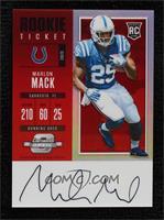 Rookie Ticket RPS Autograph - Marlon Mack #/75