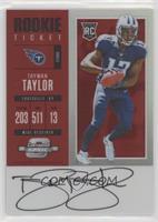Rookie Ticket RPS Autograph - Taywan Taylor #/75