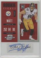 Rookie Ticket Autograph - T.J. Watt #/75
