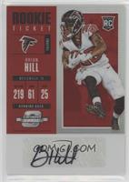 Rookie Ticket Autograph - Brian Hill /75