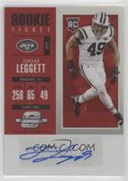 Rookie Ticket Autograph - Jordan Leggett #/75