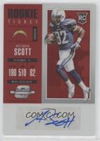 Rookie Ticket Autograph - Artavis Scott #/75