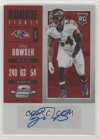 Rookie Ticket Autograph - Tyus Bowser /75