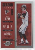 Season Ticket - Matt Ryan #25/199
