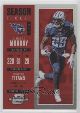 2017 Panini Contenders Optic - [Base] - Red #22 - Season Ticket - DeMarco Murray /199