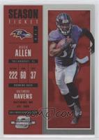 Season Ticket - Buck Allen [EXtoNM] #/199