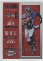 Season Ticket - Buck Allen #/199
