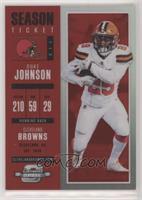 Season Ticket - Duke Johnson #/199