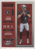 Season Ticket - Derek Carr /199