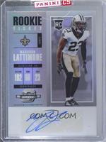 Rookie Ticket Autograph - Marshon Lattimore [Uncirculated]