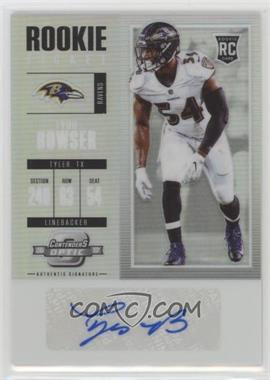2017 Panini Contenders Optic - [Base] #198 - Rookie Ticket Autograph - Tyus Bowser