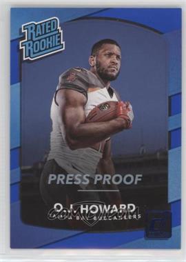 2017 Panini Donruss - [Base] - Press Proof Blue #342 - Rated Rookies - O.J. Howard