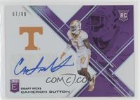 Draft Picks - Cameron Sutton /99