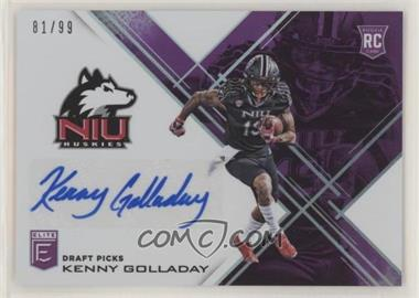 2017 Panini Elite Draft Picks - [Base] - Aspirations Purple Autographs [Autographed] #210 - Draft Picks - Kenny Golladay /99