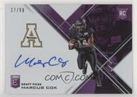 Draft Picks - Marcus Cox #27/99