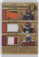 Joe Mixon, John Ross, Joe Williams #/25