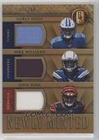 John Ross, Corey Davis, Mike Williams /99