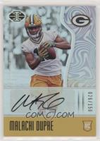 Rookie Signs - Malachi Dupre #/150