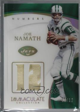 156f3631 2017 Panini Immaculate Collection - Immaculate Numbers Memorabilia #NU-75 - Joe  Namath /12