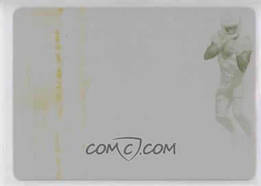 2017 Panini Immaculate Collection - Rookie Shoe - 2018 Plates & Patches Printing Plate Yellow #LA-23 - Corey Davis /1