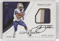 Rookie Patch Autographs - John Ross III #/99