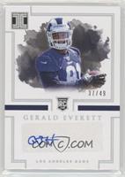 Rookie Autographs - Gerald Everett /49