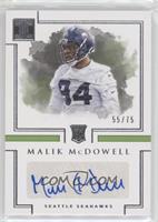 Rookie Autographs - Malik McDowell /75
