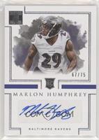 Rookie Autographs - Marlon Humphrey /75