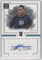 Rookie Autographs - Raekwon McMillan /75