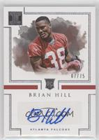 Rookie Autographs - Brian Hill /75