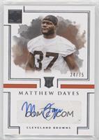 Rookie Autographs - Matthew Dayes /75