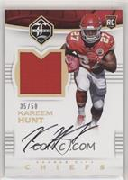 Rookie Patch Autographs - Kareem Hunt #/50