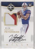 Rookie Patch Autographs - Nathan Peterman #/50
