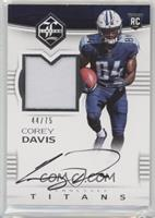 Rookie Patch Autographs - Corey Davis #/75