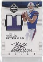 Rookie Patch Autographs - Nathan Peterman /75