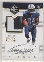 Rookie Patch Autographs - Corey Davis #/299