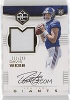 Rookie Patch Autographs - Davis Webb /299