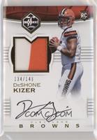 Rookie Patch Autographs - DeShone Kizer #/149