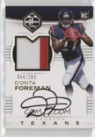 Rookie Patch Autographs - D'Onta Foreman /299