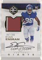 Rookie Patch Autographs - Evan Engram /299