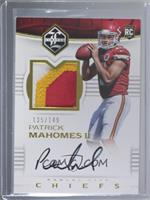 Rookie Patch Autographs - Patrick Mahomes II #/149